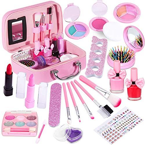 STAY GENT Maquillaje Niña para Chicas Set, Caja de Maquillaje Infantil Maletín Kit Maquillaje Juguetes para Niñas, Lavable Juega Maquillaje Regalos para Pequeño Princesa