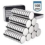 Neodym Magnete 100 Stück, 5x1mm Versatile Kühlschrank Mini Magnete N52 Ultra Stark Runde...