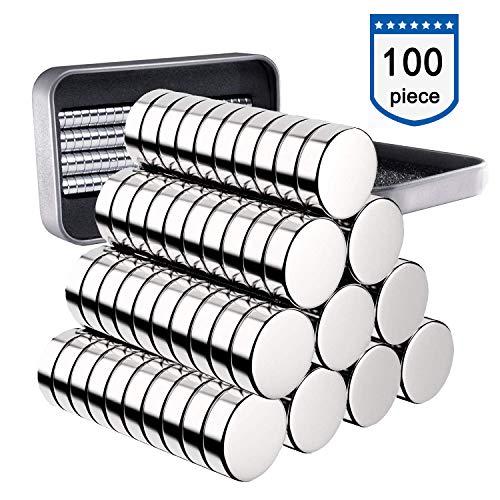 Neodym Magnete 100 Stück, 5x1mm Versatile Kühlschrank Mini Magnete N52 Ultra Stark Runde Neodym-Magnete für Magnettafel, Whiteboard, Kühlschrank, Handwerk, Wissenschaft - mit Aufbewahrungsbox