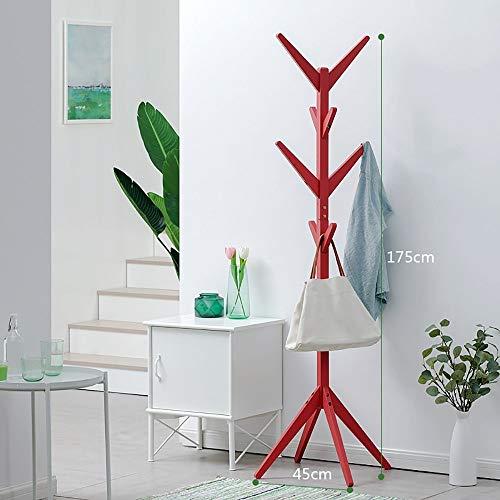 POETRY Kledingrek eenvoudig massief houten kapstok woonkamer opslag plank slaapkamer kleerhanger (4 kleuren optioneel) voor garage foyer kantoor kast (kleur: wit grootte: 165 * 50 cm)