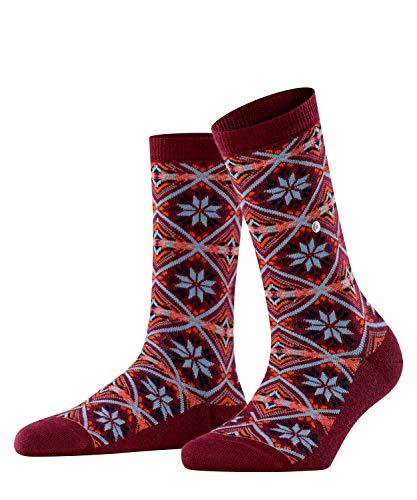 Burlington Damen Snowstar Rhomb W SO Socken, rot (Merlot 8005), Einheitsgröße (DE 36-41)
