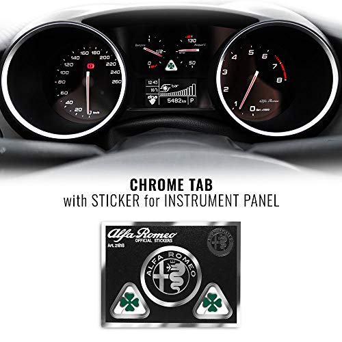 Alfa Romeo 21818 Adesivo Quadrifoglio Verde per Quadro Strumenti, 65 x 85 mm