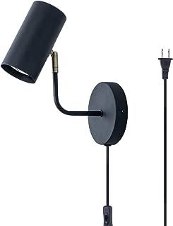 TeHenoo Adjustable Minimalist Plug in Wall Sconce Light Fixture with Cord for Dining Room, Bedroom, Cafe, Bar, Bedside Lamp, Corner