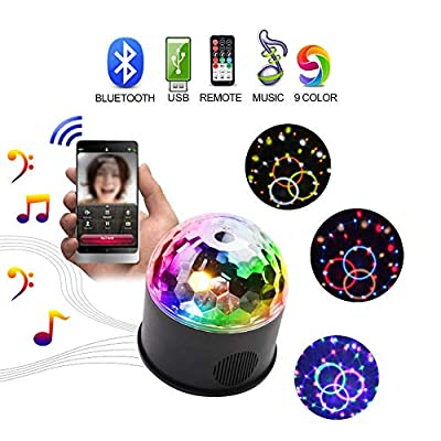 Disco Lights, KOOT Wireless Bluetooth Connection Mini Strobe Stage Lights Support USB Charging Remote Control DJ Party Lights - Suitable For Birthday Family Party Bar KTV Club Gym