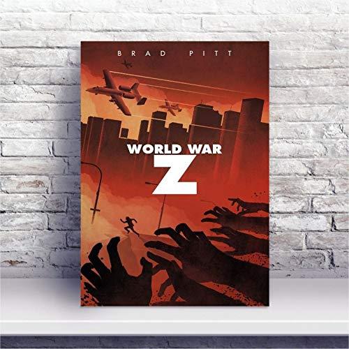 Placa MDF Filme Guerra Mundial Z