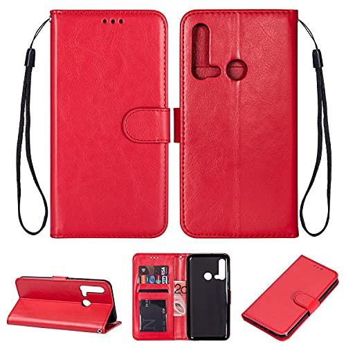 Tapa de la caja de la caja del teléfono Para Huawei P20 Lite 2019 Funda de estilo de estilo de billetera, pulsera de función de soporte PU Caja del teléfono de cuero, estuche de teléfono magnético par