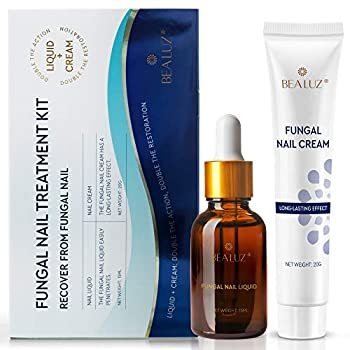 BEALUZ Fungal Nail Treatment Liquid and Cream Kit Repair Fungal Infected Nails Effectively Stopping Fungus and Restore Healthy Nails  kit