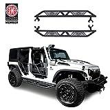 Jeep Wrangler Side Step Armor for 2007-2018 Jeep Wrangler JK Unlimited 4 Door Blade Nerf Bars Running Boards Rock...