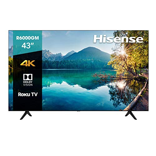 Hisense 43R6000GM Serie R6 43' 4K Uhd, Smart TV, Roku TV, Hdr10, Roku Search, (2020) (43') (43') (Reacondicionado)