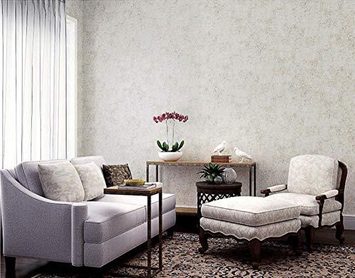Papier Peint Motif Marbre Imitation Rétro Gris Chanvre Blanc Papier Peint Style Brique Vintage - 100 X 53 Cm - Papier Décoratif Pour Chambre Et Salon