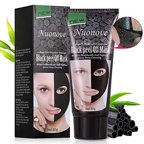Black Mask, Peel Off Maske, Mitesser Maske, Blackhead Maske, Gesichtsmasken Schwarz, Tiefenreinigung Mitesser Entferner Anti Akne Öl-Kontrolle Purifying, 60g