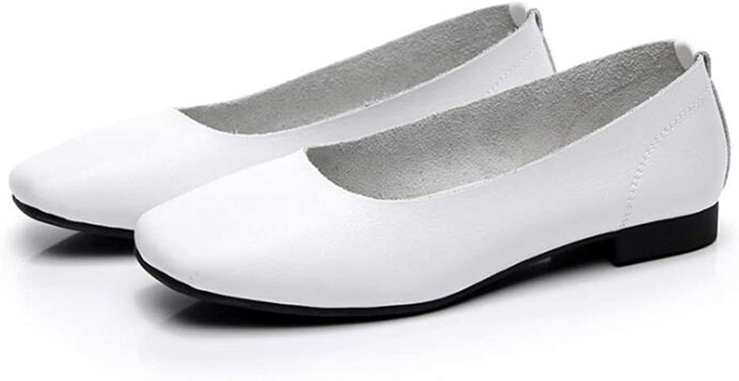 Foldable Ballet Flats Portable Travel Flats Loafer shoes Comfort Round Toe Leather Ballerina