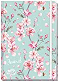 Bullet Journal dotted A5 mit Gummiband [Floral] von Trendstuff by