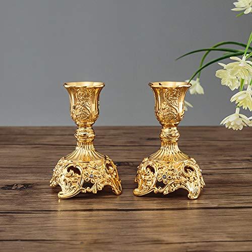 Candelabros Dorados Antiguos candelabros dorados  Marca Sziqiqi