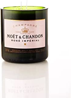 Handmade Scented Champagne Candle Moet & Chandon rosé 750 ml Original Bottle Gift Interior Design