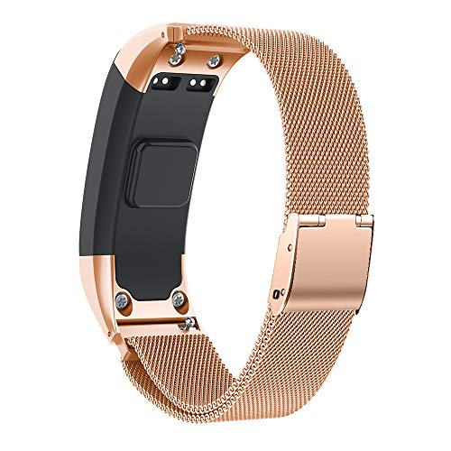 NotoCity Kompatibel Vivosmart HR Armband Uhrenarmband Einstellbare Freie Größe Schnellverschluss Armband Fitness Tracker Smart Uhrenarmband Ersatzband Armband(Rosegold,S)