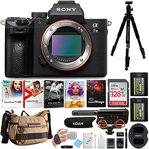 Sony Alpha a7 III Mirrorless Digital Camera (Body Only) with Accessory Bundle