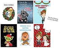 Silly Goose Gifts Galaxy Far Far Away スターウォーズ テーマ グリーティングカードセット(7枚セット) 封筒付き