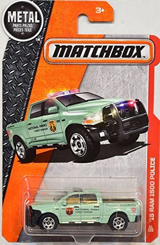 Matchbox 2016 MBX Heroic Rescue '15 Dodge Ram 1500 Police 61/125, Light Green