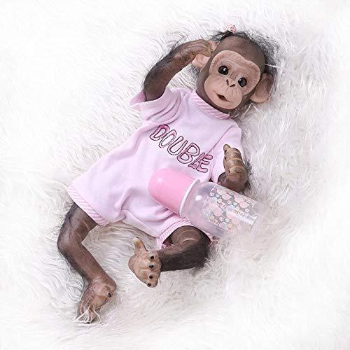iCradle Reborn Babypuppen 16 Zoll 40 cm handgemachte Neugeborene Baby AFFE Mädchen Puppen weiche Silikon Vinyl lebensechte Reborn Puppe Kinder Weihnachten (Mädchen)