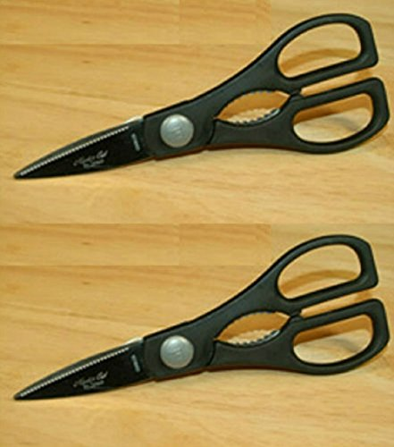 Master Cut Kitchen Shears Heavy Duty Multi-Purpose Utility Scissors for Poultry, Fish, Meat, Vegetables, Herbs and Daily Use Around The House - 2 PACK