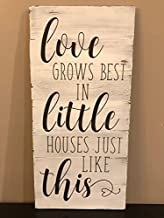 Ruskin352 Love grows best in little houses just like this wood sign pallet sign home decor rustic decor