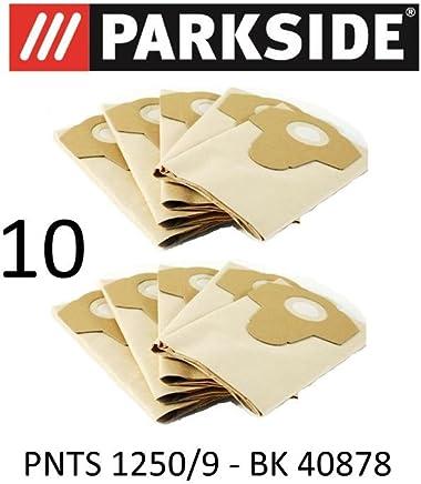 10 bolsas de aspiradora Parkside 20 L pnts 1250/9 Lidl BK 40878 marrón 906