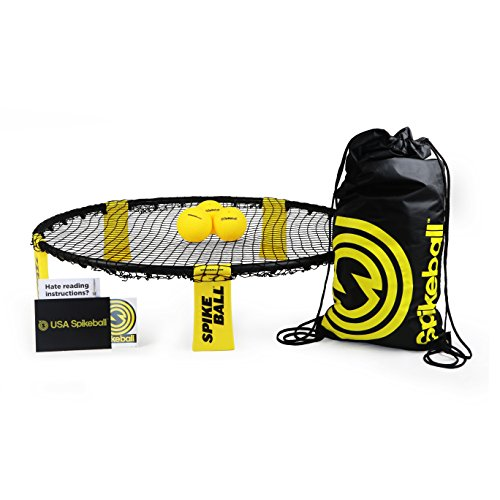 Spikeball 3 Ball Kit - Includes Playing Net, 3 Balls, Drawstring Bag, Rule Book