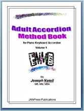 Adult Accordion Method Book for Piano Keyboard Accordion with CD-ROM