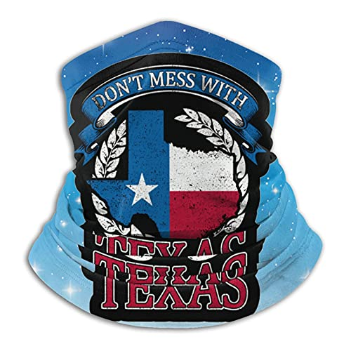 Dont Mess With Texas Microfiber Neck Warmer Neck Gaiter Face Mask Bandana Balaclava