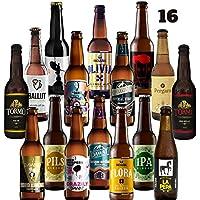 Pack de cerveza artesana. 16 Cervezas Artesanas de las mejores marcas. El mejor regalo. Incluye Río Azul Flora, medalla de Bronce en Barcelona Beer Challenge 2020 categoríaSPECIALTY IPA BELGIAN IPA