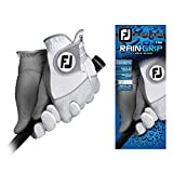 FootJoy Men's RainGrip Pair Golf Glove White Cadet Medium, Pair