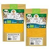 BIO Curry Pulver Gewürzmischungen 200g | Hot Bombay Masala & Madras Curry Golden Mix | Indische Gewürze Currygewürz 2er SET (2x 100g) | Organic Bio-zertifiziert DE-ÖKO-039