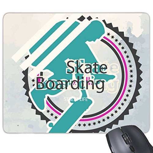 Winter Sport Snowboarden Contes Atleten Skate Boarding Aquarel Illustratie Rechthoek Antislip Rubber Mousepad Game Mouse Pad