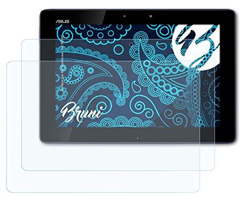 Bruni Schutzfolie kompatibel mit Asus Eee Pad Transformer Pad TF300T Folie, glasklare Bildschirmschutzfolie (2X)