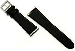 Genuine 23MM Black Smooth Leather Watch Band Fits BL6005-01E BL6006-08E B023M-S011868 B023M-S036577 B023M-S052998 B023M-S069165 B023M-S069173