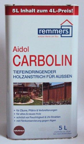 Remmers Aidol Carbolin Holzschutzlasur, Naturbraun 5 Liter