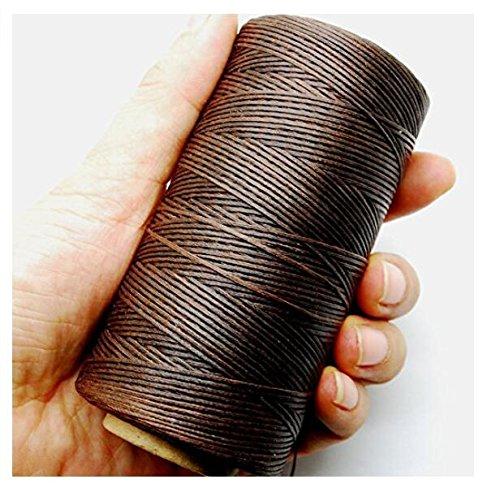NiceButy 284yrd marrón oscuro piel hilo de costura encerado 1 mm 150d cuero costura a mano 125 g