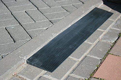 Tür Schwellenrampe Voll Gummi Rampe Rollstuhl Bordsteinrampe 8 x 80 x 900 mm