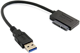 SODIAL USB 3.0 A 7 + 6 13 Broches Slimline Ordinateur Portable Sata CD/DVD Rom Cable..