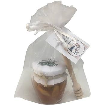 Recuerdo boda tarro de miel con almendras Deliex y un palo catador (Pack 24 ud): Amazon.es: Hogar