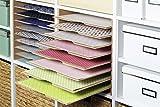 INWONA Kallax Expedit Regal Einsatz Ablage Papierfach Postfach Papier Fach Fachteiler für 9 Einzelfächer 33,5 x 33,5 x 38 cm Holz Natur MDF