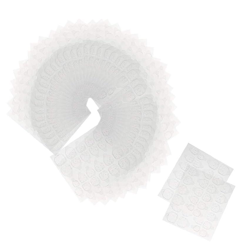 立法ジャズガードCUTICATE ネイルステッカー ネイルタブ 接着剤ステッカー 透明 両面 使いやすい 約240ピースセット