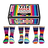 De La Marca United Oddsocks - Caja De Regalo 6 x Calcetines Coloridos Desparejados Para Hombre EU 39-46 (Weekend)