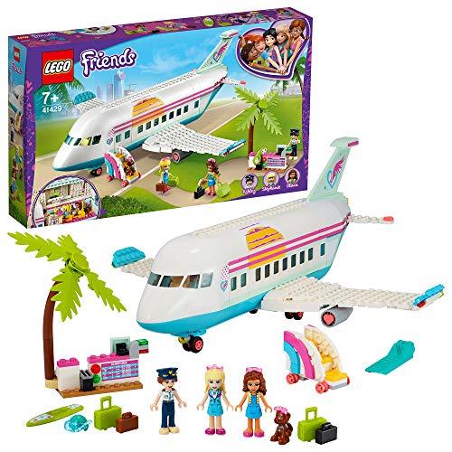 LEGO 41429 Friends AvióndeHeartlakeCity, Juguete de Construcción para Niños y Niñas a Partir de 7 años con 3 Mini Muñecas y Accesorios