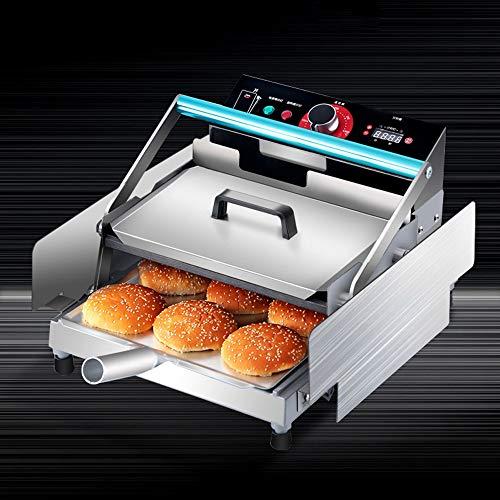 220V Kommerzielle Automatische Hamburgermaschine, Edelstahl Doppelschicht Batch Bun Toaster Brotbackmaschine Bake Burger Maschine 750W
