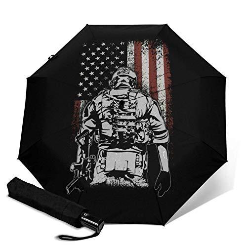 American Soldier Battlefield Automatischer Dreifach faltbarer Regenschirm Sonnenschirm Sonnenschirm.