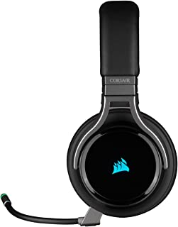 Corsair Virtuoso RGB Wireless High-Fidelity Gaming Headset (7.1 Surround Sound, Memory Foam Earpads, Omni-Directional Micr...