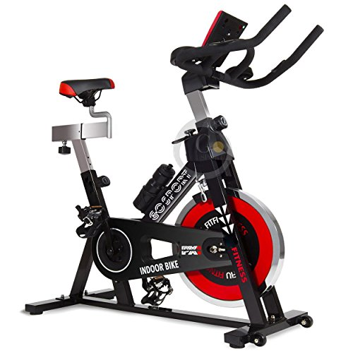 Bicicleta estática para entrenamiento aeróbico, fitness, cardio; máquina de gimnasio para la casa o bicicleta de carrera