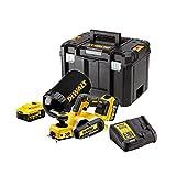 Dewalt DCP580P2-QW Cepillo sin escobillas XR 18V con 2 baterías Li-Ion 5, Negro y amarillo